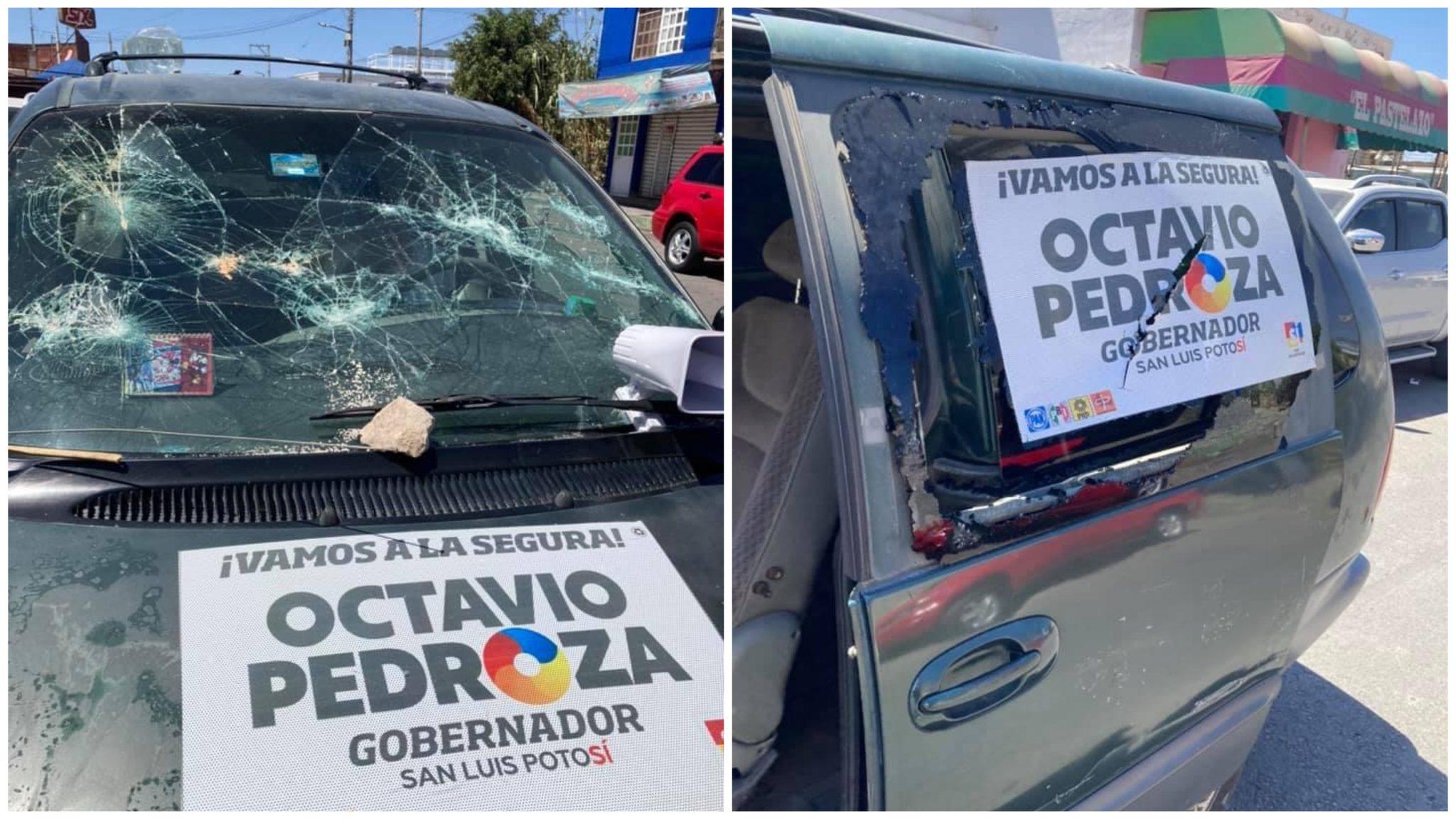 Fotos: Autoatentado? PAN condena supuesto atentado contra ellos en Soledad de Graciano Sánchez; San Luis Potosí