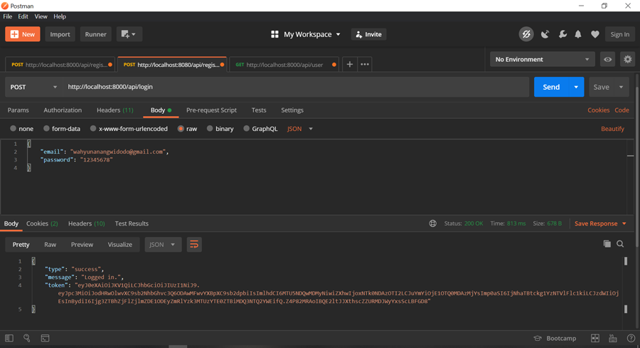 Membuat Autentikasi JWT (JSON Web Token) dengan Laravel 7