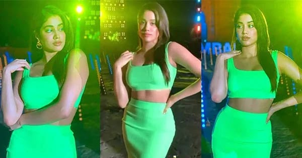Janhvi Kapoor shows off her fine curves in this tight green outfit at Global Citizen Festival 2021