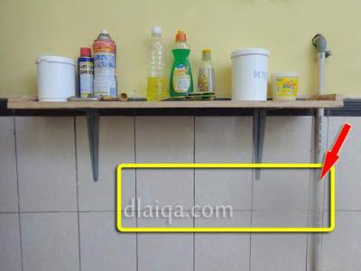 rencana letak jalur pipa ke mesin cuci
