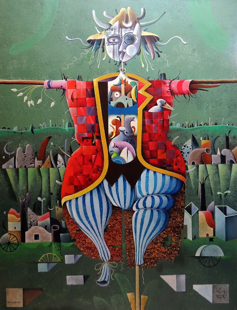 Josep Maria Rovira-Brull espantapájaros cuadro surrealista