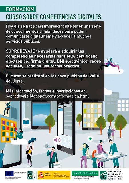 Curso sobre competencias digitales. Valle del Jerte