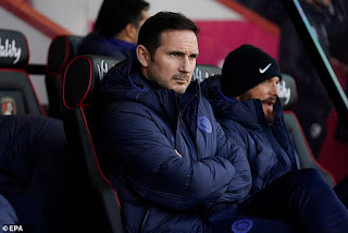 Lampard admits Chelsea have a 'mindset' problem after draw at Bournemouth