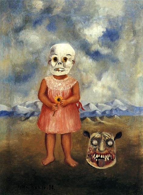 Фрида Кало - Девочка с маской смерти (Она играется сама). 1938