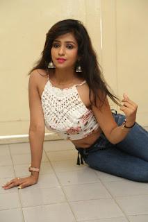 Deekshita Parvathi in a short crop top and Denim Jeans Spicy Pics Beautiful Actress Deekshita Parvathi January 2017 CelebxNext (180).JPG