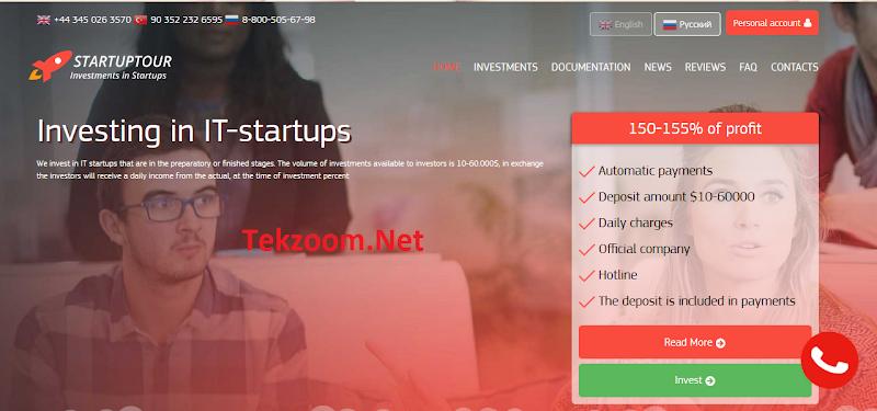 [SCAM] Review StartupTour - Lãi 2.4-3% hằng ngày - Đầu tư tối thiểu 10$ - Thanh toán Manual