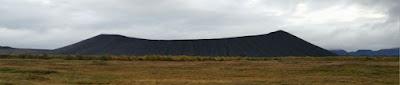 El cráter Hverfjall, Islandia, Iceland.