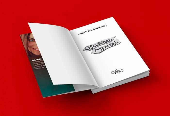 """Ilustración y diseño por carátula para el libro """"Oscuridad mental"""" por Hache Holguín"""