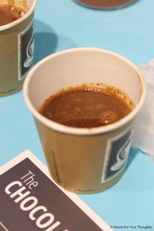 Traditional hot chocolate at The Chocolate Quarter, Birmingham