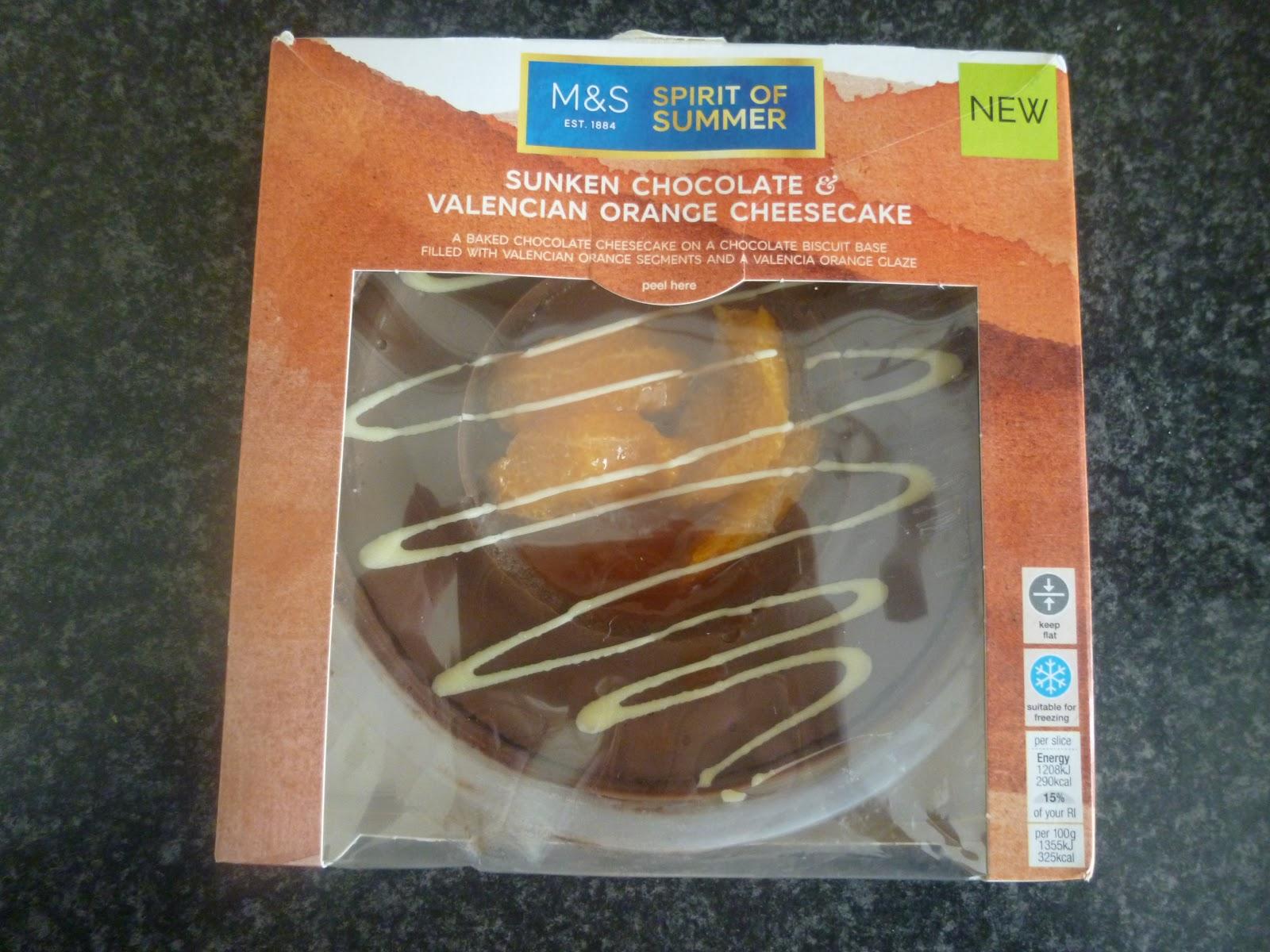 Marks And Spencer Chocolate Orange Cheesecake