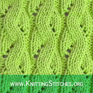 Textured Knits: LACE MOCK CABLES