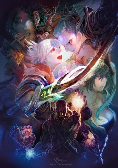 Han-Yuan, Yu (aka B.c.N.y.) deviantart ilustrações fantasia oriental estilo anime mangá terror sobrenatural mitologia asiática cores games