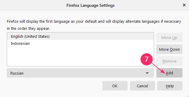 cara mengganti bahasa mozilla firefox windows 7