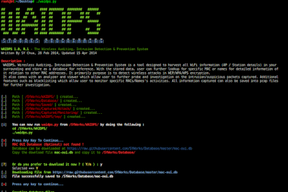 WAIDPS [Wireless Auditing, Intrusion Detection & Prevention System]