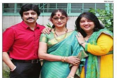 Bharathi Vishnuvardhan with Keerthi and Anirudh