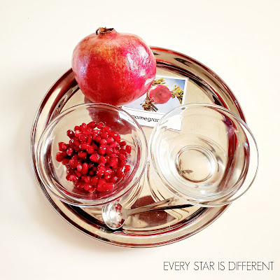 Spooning Pomegranate Seeds Activity