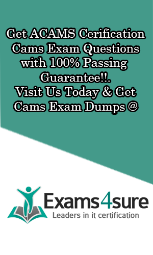 The Secret of Success in Acams Exam - Cams Dumps - Get Real