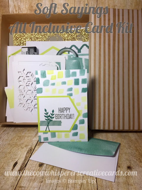 Stampin Up, All Inclusive, Card Kit, Soft Sayings, Quick and Easy Cards