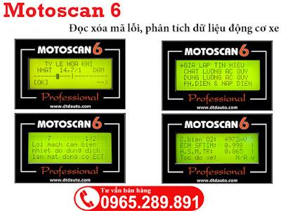 Motoscan 6 đọc xóa mã lỗi xe Fi