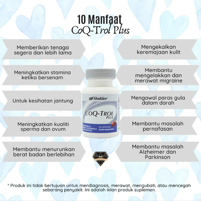 Manfaat CoqTrol Plus Shaklee