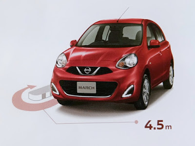 Gambar Fitur Minimum Turning Radius Nissan March