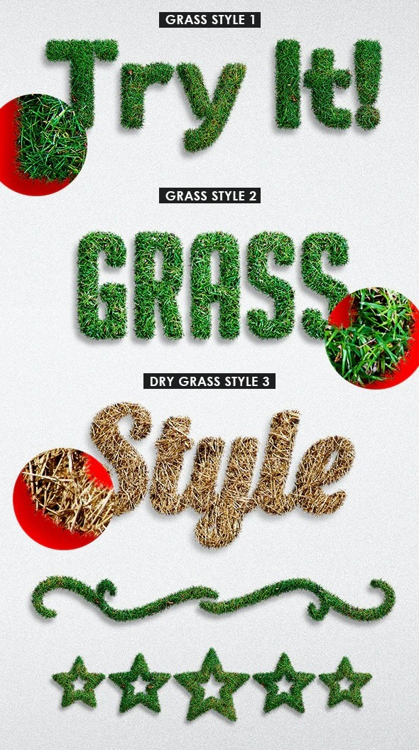 Realistic Grass - Photoshop Actions 28288665