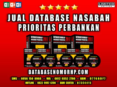 Jual Database Nasabah Prioritas Perbankan