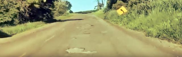 Asfalto deteriorado causa transtornos aos motoristas