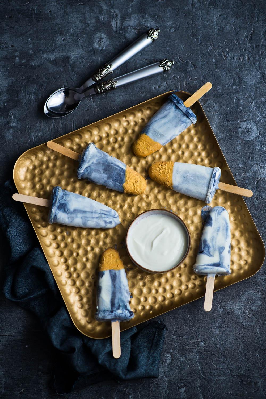 Marmurkowe lody jogurtowe