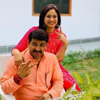 shweta tiwari and Manoj Tiwari