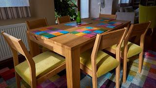 drewniane podkładki pod talerze na zamówienie