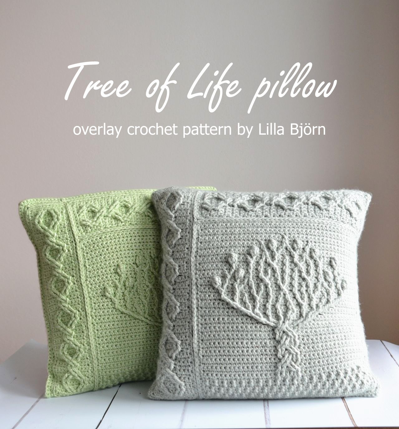 Tree of Life pillow – new overlay crochet pattern | LillaBjörn's