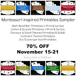 Montessori-inspired Printables Sampler