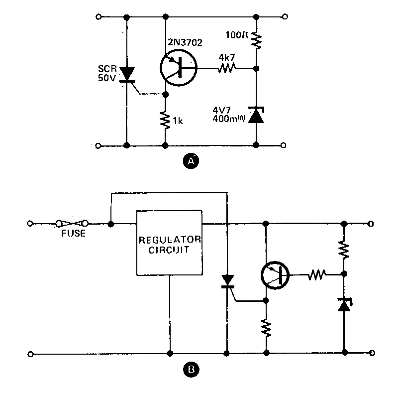Simple Crowbar Circuit Diagram | Electronic Circuit