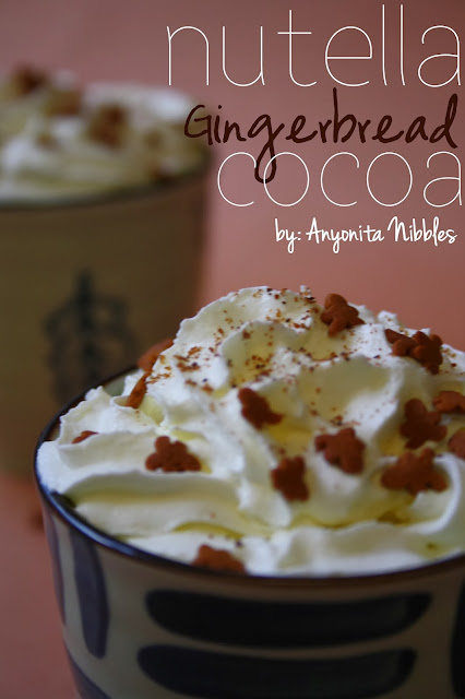 Nutella Gingerbread Cocoa with Starbucks Gingerbread Syrup Copycat