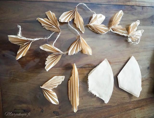 boheemi sisustus boho diy askartelu paperikoristeet jouluodotus
