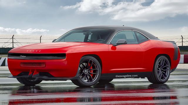 Dodge Challenger lights off