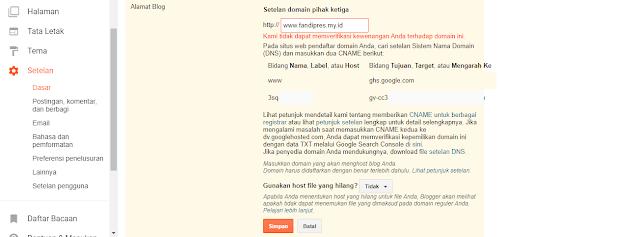 Klik Simpan dan Tunggu Proses Penyiapan Domain Baru yang Kamu Miliki