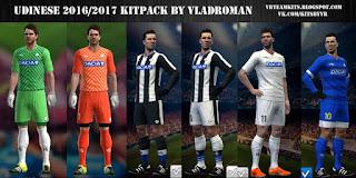 Kits Udinese 2016-2017 Pes 2013 by vladroman