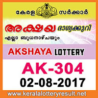 kl result yesterday,lottery results, lotteries results, keralalotteries, kerala lottery, keralalotteryresult, kerala lottery result, kerala lottery result live, kerala lottery results, kerala lottery today, kerala   lottery result today, kerala lottery results today, today kerala lottery result, kerala lottery result 2.8.2017 akshaya lottery ak 304, akshaya lottery, akshaya lottery today result, akshaya lottery   result yesterday, akshaya lottery ak304, akshaya lottery 2.8.2017