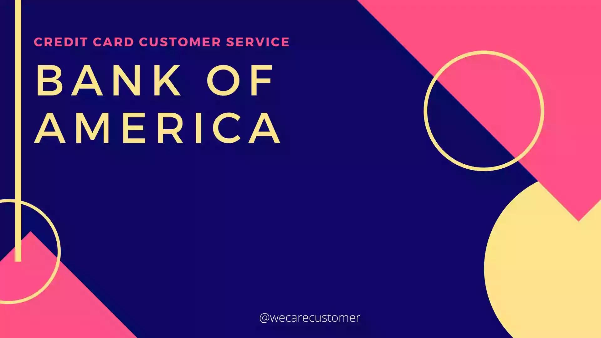 Bank of America credit card customer service contact ...