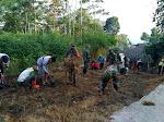 Pra TMMD Sengkuyung Jalan Desa Di Cor Blok