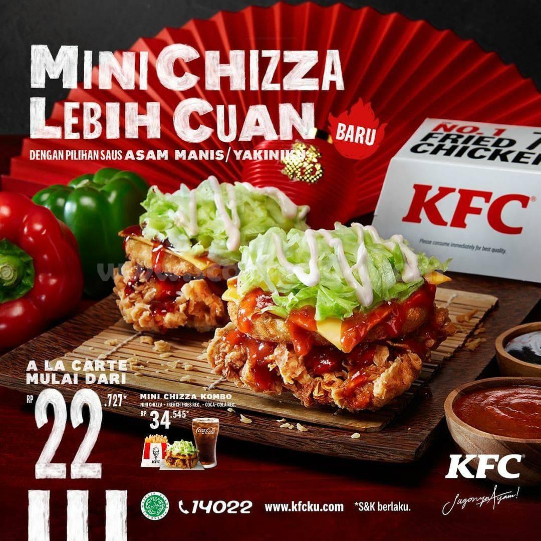 BARU! KFC MINI CHIZZA Lebih CUAN! harga Spesial mulai Rp 22.727