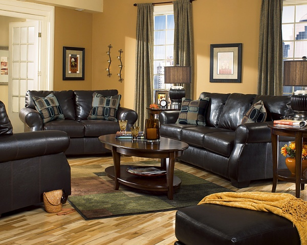 Pclrdf44 Paint Colors Living Room Dark Furniture Group 6382