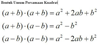 Cara cepat menghitung persamaan kuadrat