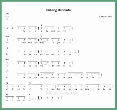 not angka lagu kutang barendo
