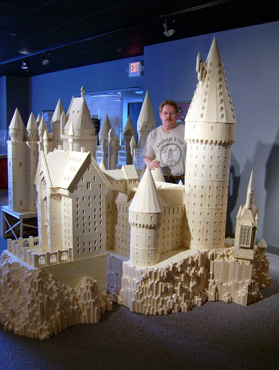 06-Hogwarts-Patrick-Acton-The-Matchmaker-Matchsticks Sculptures-www-designstack-co