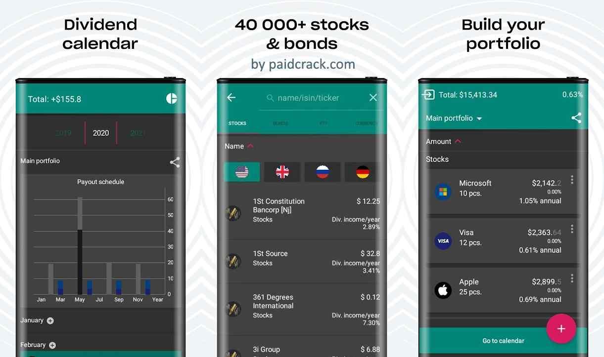Divplan - Dividend Tracker and Calendar Premium Mod Apk 1.70