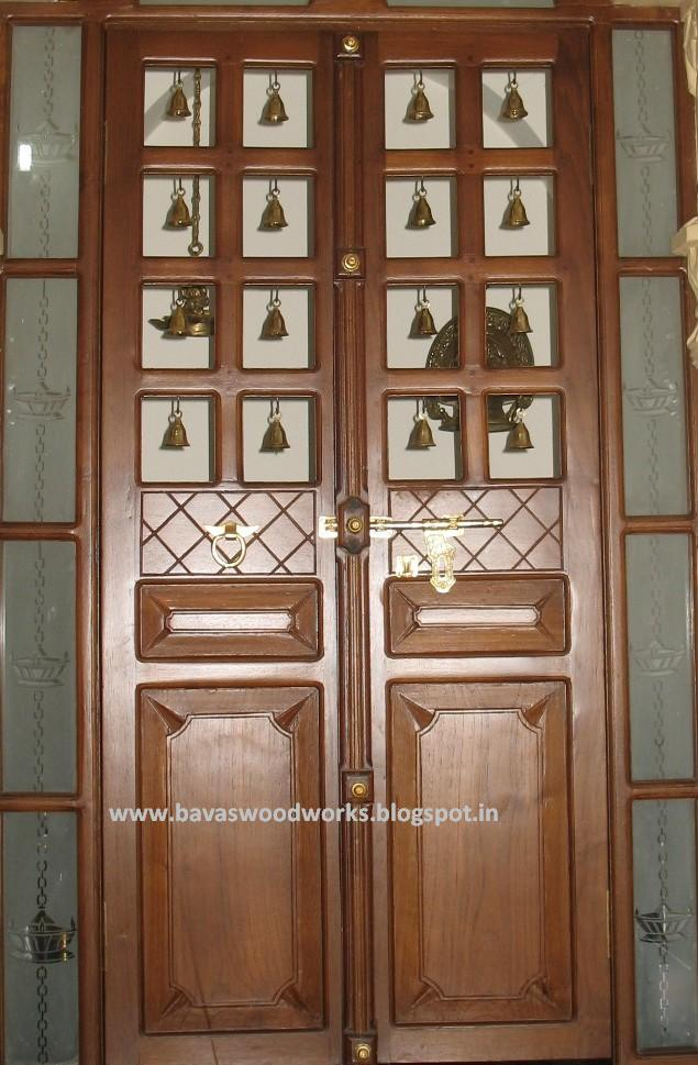 Pooja Room Door Design Photos Pictures: BAVAS WOOD WORKS: Pooja Room Door Frame And Door Designs
