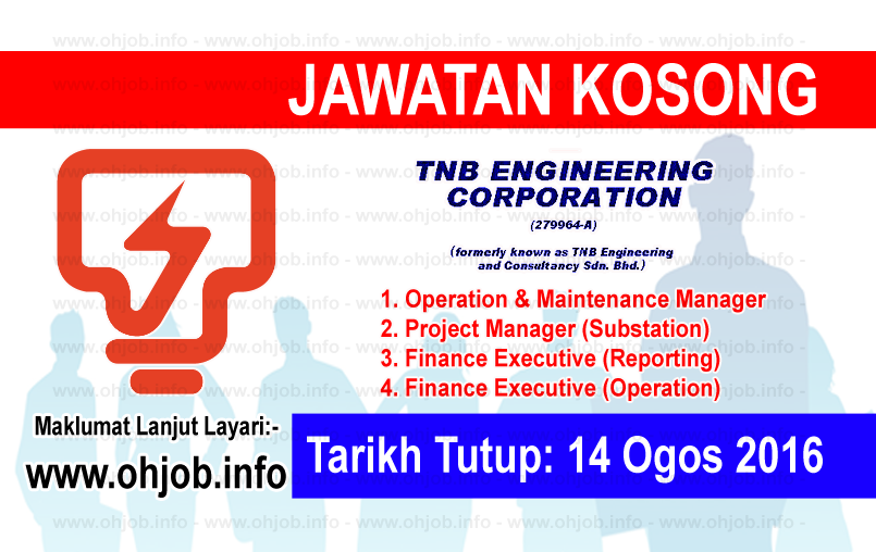 Jawatan Kerja Kosong TNB Engineering Corporation Sdn Bhd logo www.ohjob.info ogos 2016